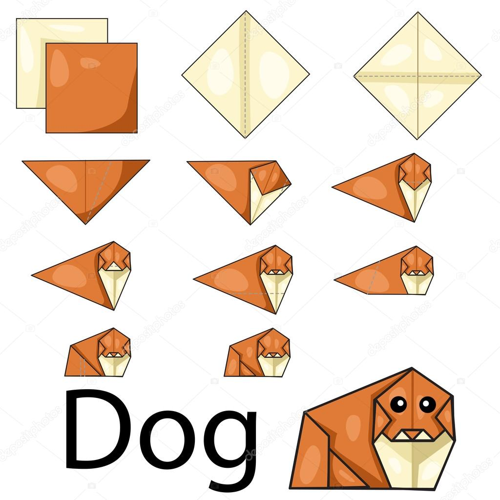 how to make an origami dog body