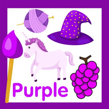 Illustrator of Purple color