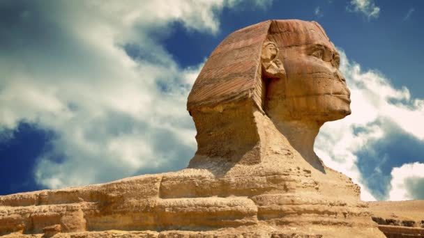 Sphinx Statue With Passing Clouds