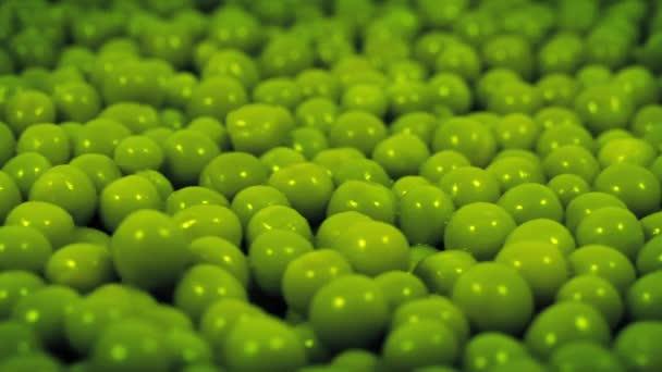 Grüne Erbsen rotieren