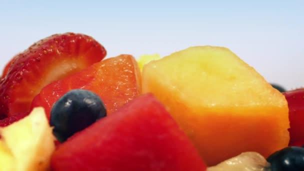 Chutné ovocné směsi rotační záběr