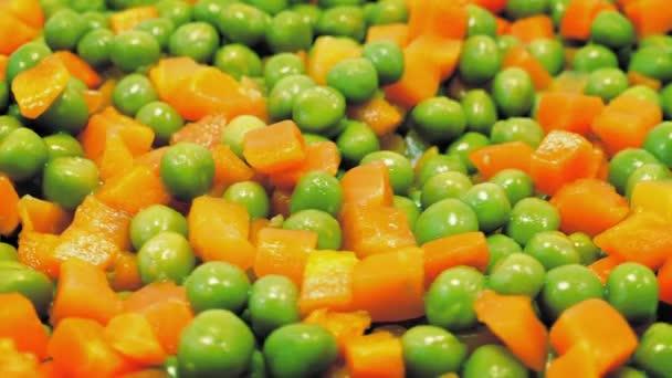 Peas And Carrots Rotating Closeup