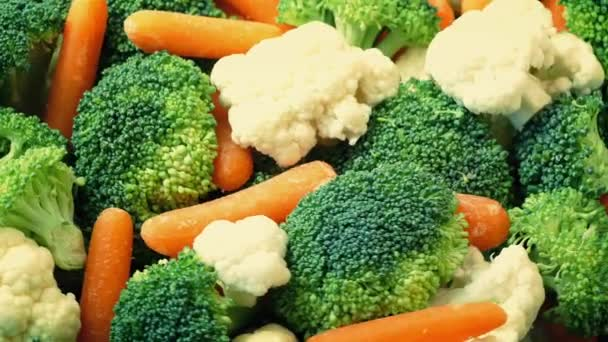 Míchaná zelenina, rotační záběr