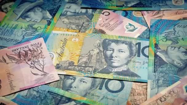 Avustralya Doları Döndürme Stok Video Rockfordmedia 107173836