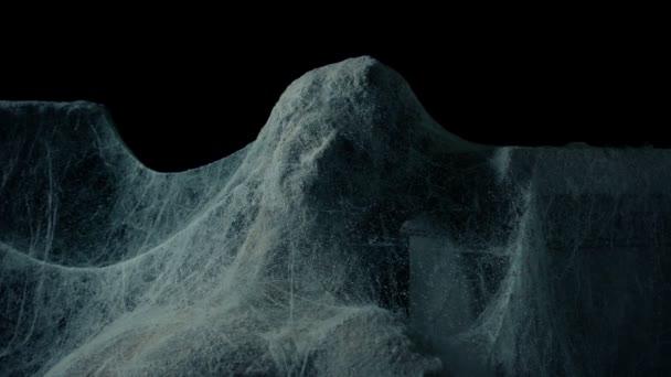 Egy porral és pókhálóval borított klasszikus szobor mellett elhaladva