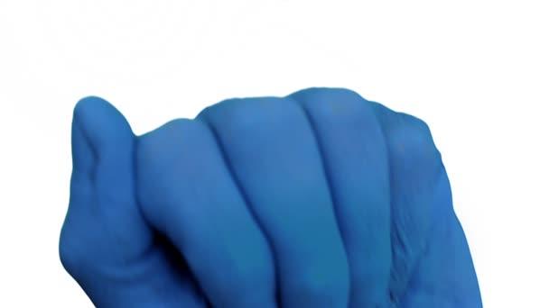 Modrá ruka otevírá odhalit země