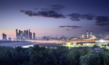Moscow at night - view from Sparrow Hills