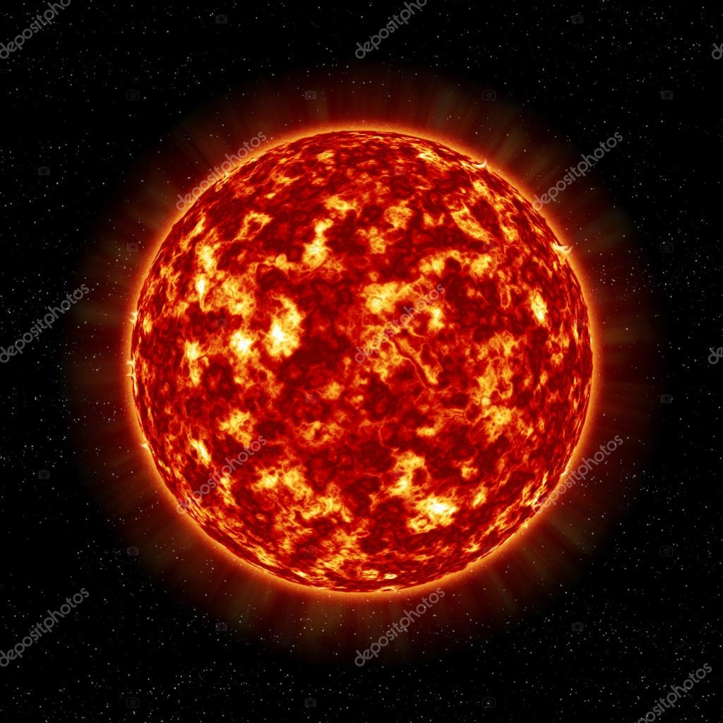 The closeup of Sun star