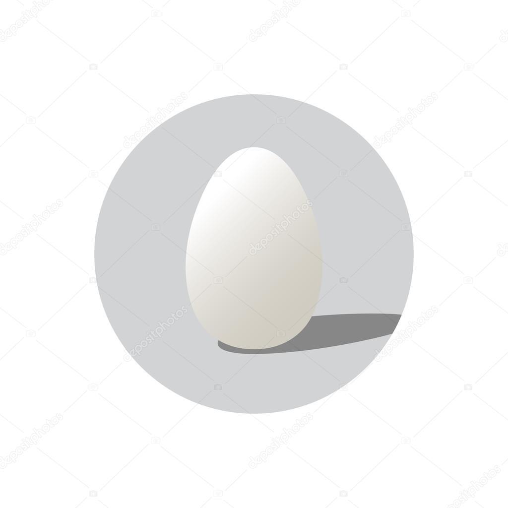 卵の現実的ベクトル形状 イースターの卵の形との分離の丸い背景 ラベル