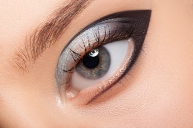Beautiful eye with makeup.