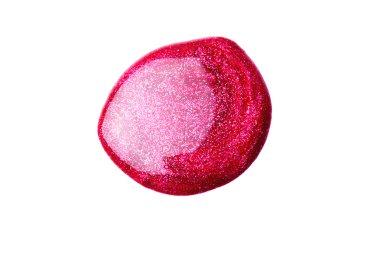 Nail polish (enamel) drops sample, isolated on white