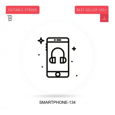 Smartphone-134 flat vector icon. Vector isolated concept metaphor illustrations. icon