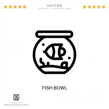 Fish bowl icon. Simple element from digital disruption collection. Line Fish bowl icon for templates, infographics and more icon