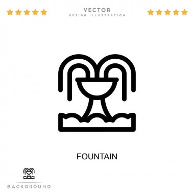 Fountain icon. Simple element from digital disruption collection. Line Fountain icon for templates, infographics and more icon