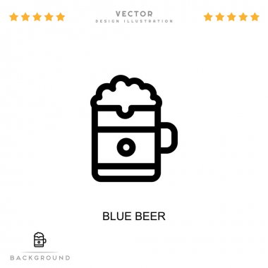 Blue beer icon. Simple element from digital disruption collection. Line Blue beer icon for templates, infographics and more icon