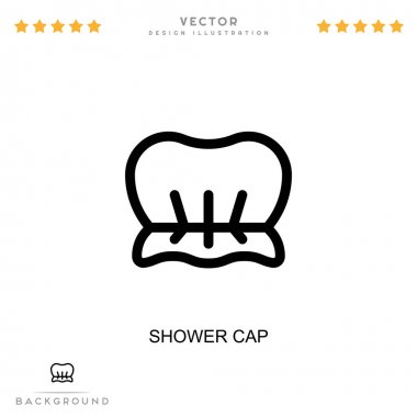 Shower cap icon. Simple element from digital disruption collection. Line Shower cap icon for templates, infographics and more icon