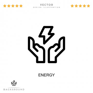 Energy icon. Simple element from digital disruption collection. Line Energy icon for templates, infographics and more icon