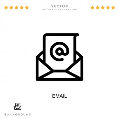 Email icon. Simple element from digital disruption collection. Line Email icon for templates, infographics and more icon