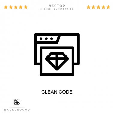 Clean code icon. Simple element from digital disruption collection. Line Clean code icon for templates, infographics and more icon