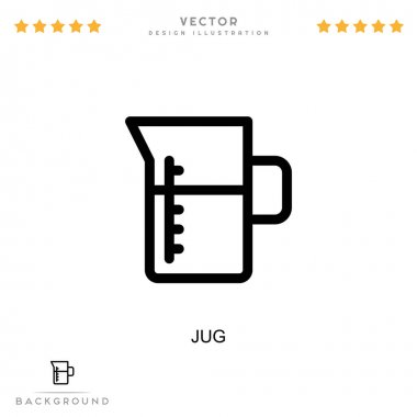 Jug icon. Simple element from digital disruption collection. Line Jug icon for templates, infographics and more icon