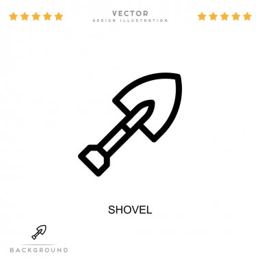 Shovel icon. Simple element from digital disruption collection. Line Shovel icon for templates, infographics and more icon