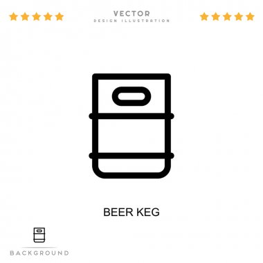 Beer keg icon. Simple element from digital disruption collection. Line Beer keg icon for templates, infographics and more icon