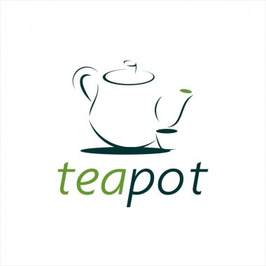 Simple tea pot logo for drink and beverage vector graphic design template element idea icon