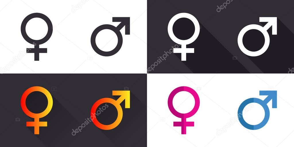 Male and Female symbol icon vector variation. Symbol for website computer and mobile vector. Vector illustration icon