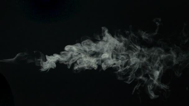 Siyah Arka Plan üzerine Su Buhar Stok Video Soraphotography