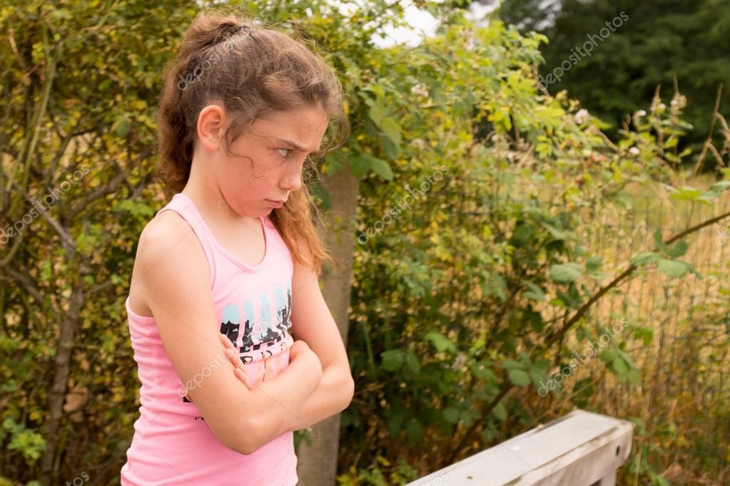 Ein Hübsches Mädchen 10 Jahre Alt Stockfoto Sylv1rob1 75234339