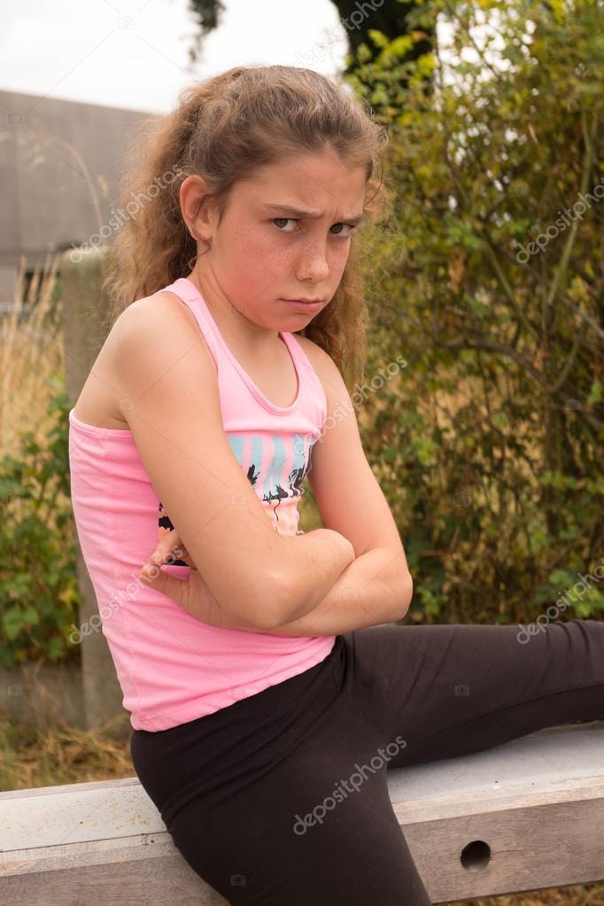 Zehn Jahre Altes Mädchen Stockfoto Sylv1rob1 76277813