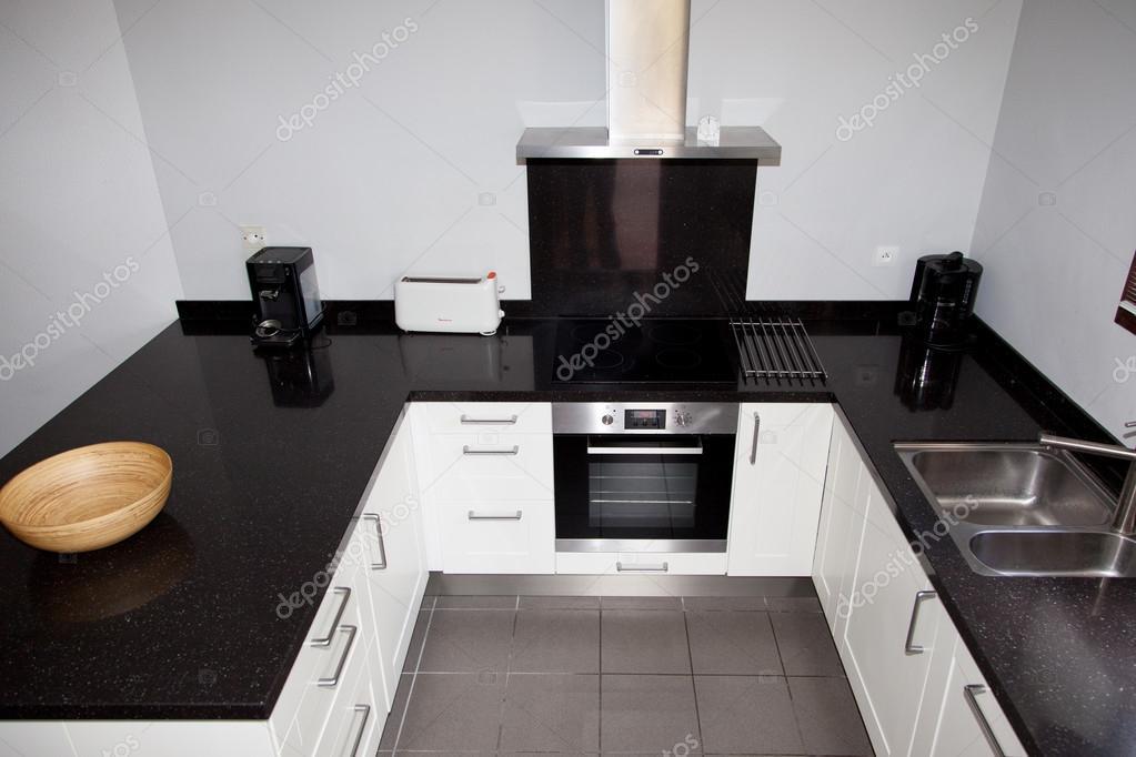 Cucine Di Lusso Design : Cucina di lusso moderno spazio aperto in design in bianco e nero