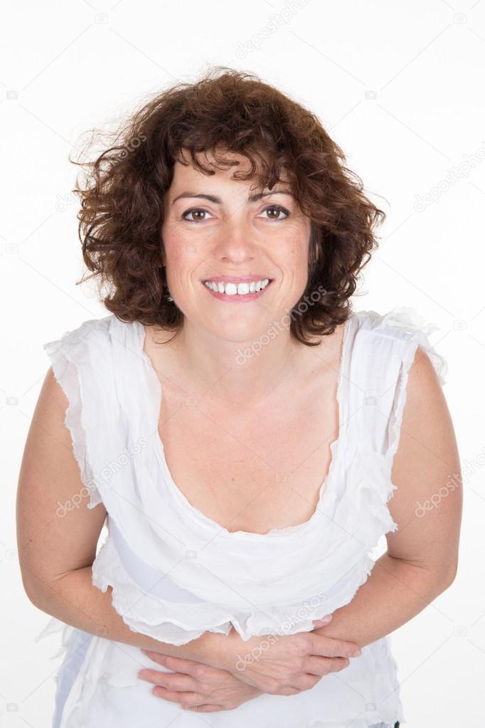 Im mittleren Alter 40 Jahre alte Frau Glamour Portrait von
