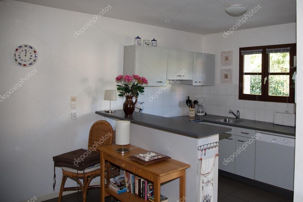 moderne weiße Küche sauber Innenarchitektur-Deco-Architektur ...