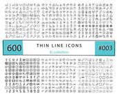 Photo 600 Vector thin line icons set for infographics, mobile UX/UI ki