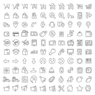 One hundred icons set