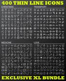 Fényképek Vékony vonal ikonok bundle