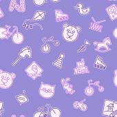 Baby pattern with toys