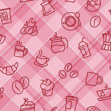 Seamless patterns with coffee theme
