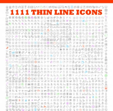 Thin line icons exclusive  icons