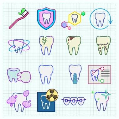 Medicine stomatology  icons