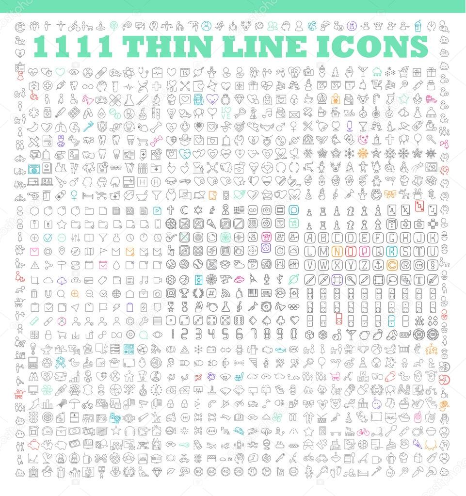 Thin line icons  icons set