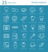 Fotografie dental medicine thin line icons