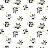 Fotografia Panda con il reticolo senza giunte di bambù