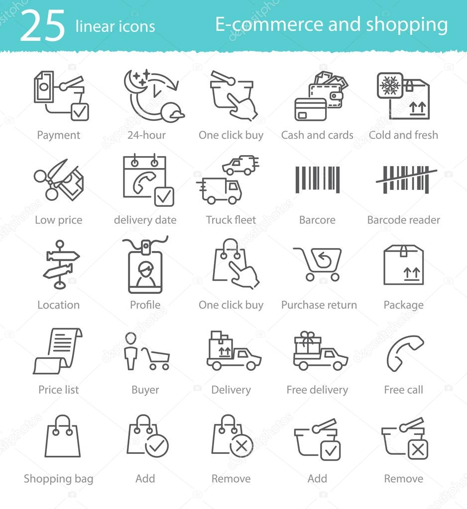 e-commerce and shopping icons