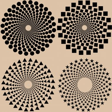halftone dots pattern set in vector format