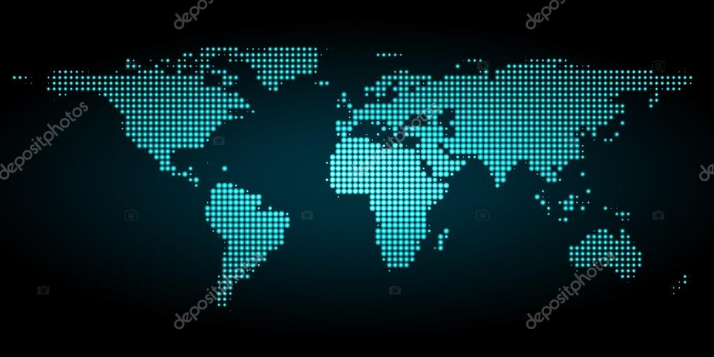 Pixel world map with spot lights stock vector ostroverhoffgmail pixel world map with spot lights stock vector gumiabroncs Image collections