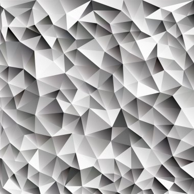 3d abstract shining ice cubes vector geometric web background, different shades of gray with triangle, black and white color diamond pattern wallpaper design, eps10 stock vector art image illustration