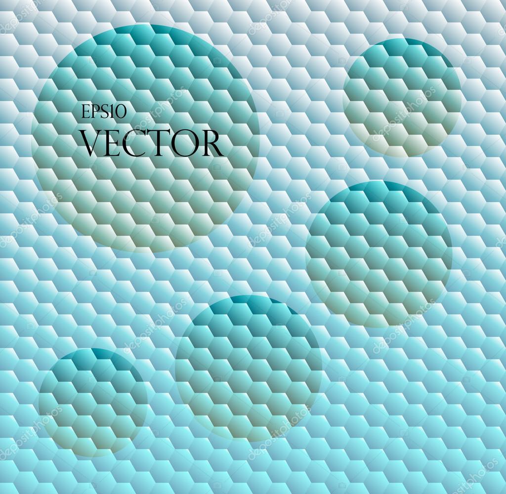 Fond transparent avec grille hexagonale — Image vectorielle
