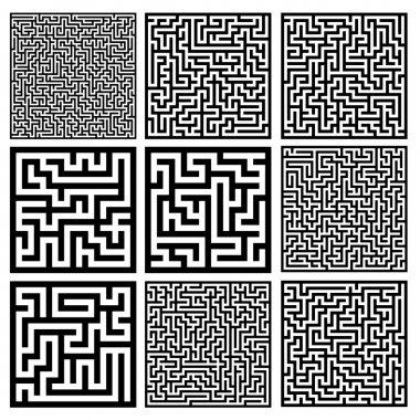 medium mazes set